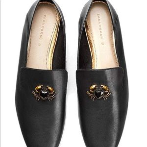 Zara Leather Crab Loafers